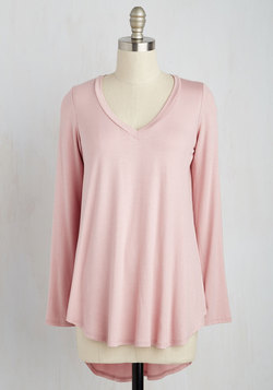 Embracing Basic Top in Dusty Rose