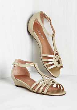 Wanna Prance with Somebody Sandal in Gold