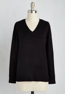 Versatile for Miles Sweater in Black