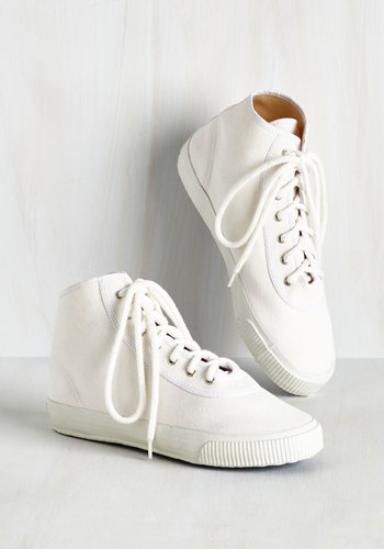 Sporty Favors the Bold Hi-Top Sneaker in White