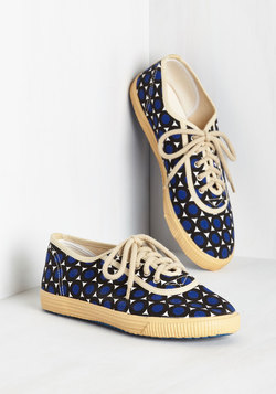 Sporty Favors the Bold Sneaker in Dots