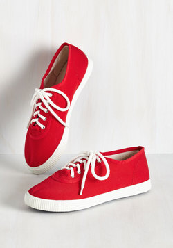 Sporty Favors the Bold Sneaker in Cardinal