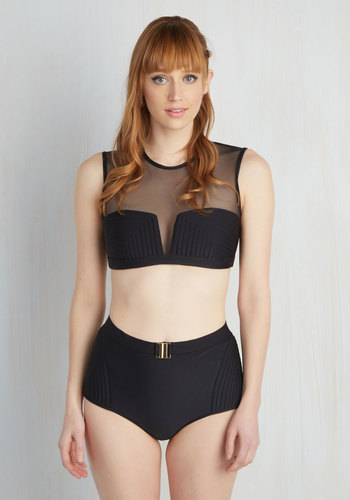 Dune DJ Swimsuit Top available from ModCloth, Click for more Details