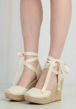 Miss Mary Macrame Wedge