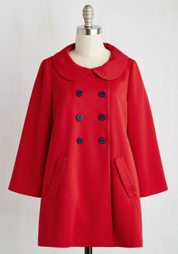 Frolic With Me Coat in Red