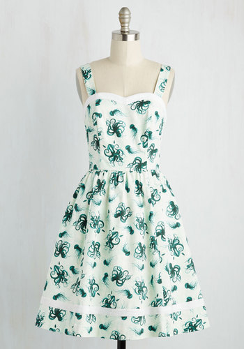 Alfresco in Avignon Dress in Deep Sea $119.99 AT vintagedancer.com