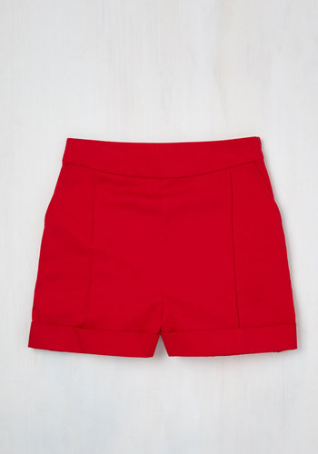 Dapper on Deck Shorts in Red