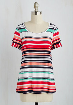 Downtime is of the Essence Top in Warm Stripes