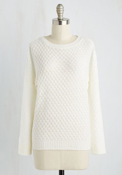 Consider It Casual Sweater in Ivory