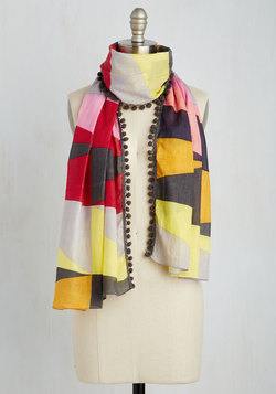 Personal Style Pep Talk Scarf in Large Print