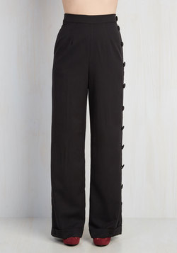 Go For the Bold Pants in Black