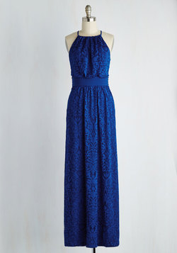Chance to Captivate Dress in Cobalt