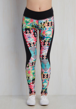 Spinning From Ear to Ear Athletic Leggings