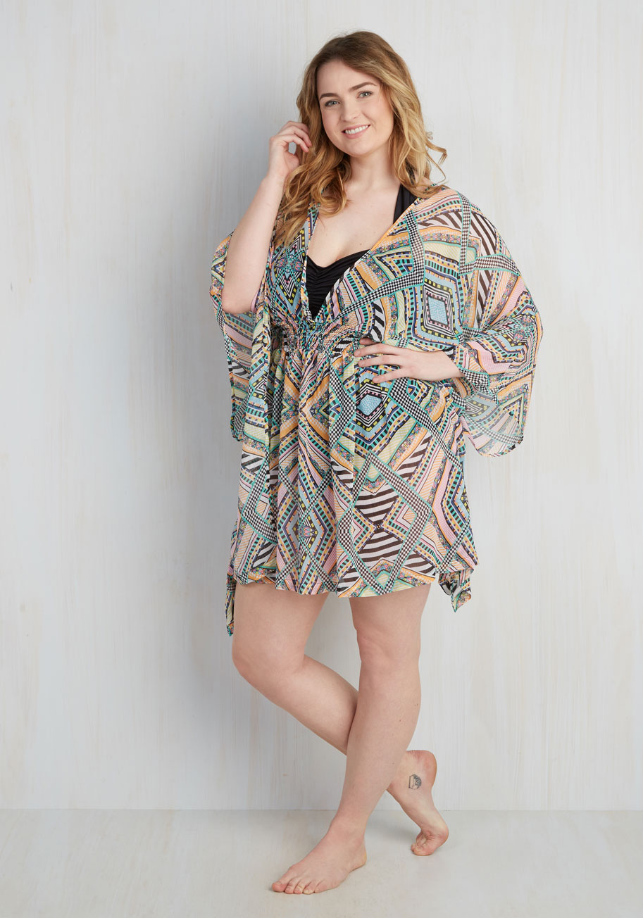 Sunbeam Me Up! Cover-Up - 1X-3X | Mod Retro Vintage Bathing Suitscom