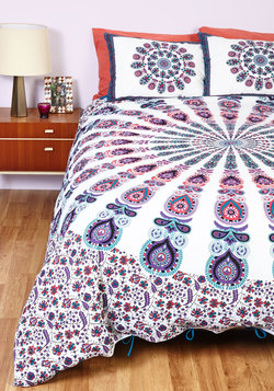 Bohemian Bliss Duvet Cover Set in Purple - Full/Queen