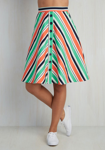 With Books to Match Skirt in Chevron