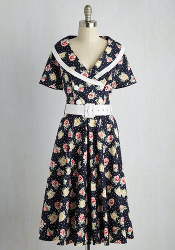 Classic Act Dress in Navy $99.99 AT vintagedancer.com