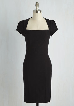 Sleek It Out Dress in Black