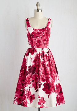 Wonder for the Record Books Dress in Magenta