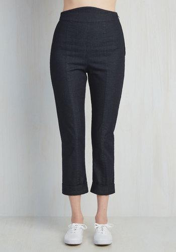 Capris to Make Your Acquaintance Pants in Dark Denim $59.99 AT vintagedancer.com