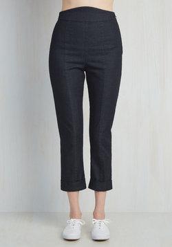Capris to Make Your Acquaintance Pants in Dark Denim