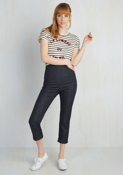 Capris to Make Your Acquaintance Pants in Dark Denim