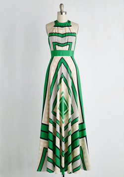 Garden Terrace Dress in Geometric