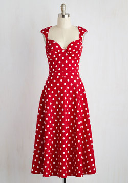 Prove Your Groove Dress in Red Dots
