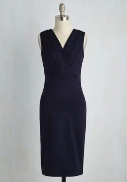 Professional Confession Dress in Midnight Blue
