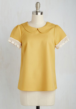 Surprise Tea Party Top in Goldenrod
