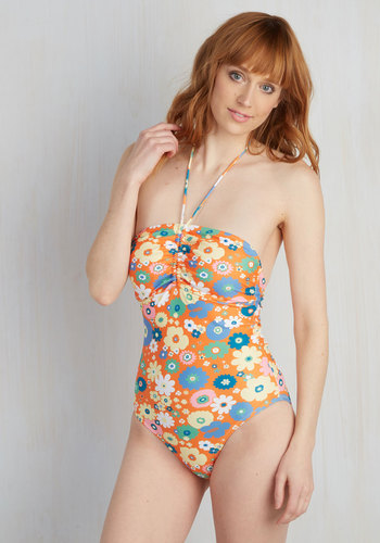 Ride the Heat Wave One-Piece Swimsuit available from ModCloth, Click for more Details