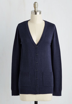 Have a Good Knit Cardigan in Navy