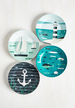 Aweigh From It All Plate Set