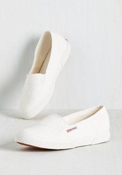 It's a Longboard Story Slip-On Sneaker in White