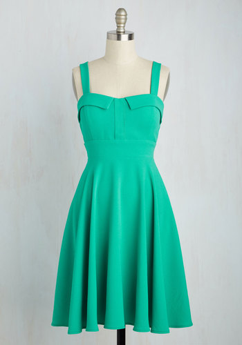 Pull Up a Cherry Dress in Jade $64.99 AT vintagedancer.com