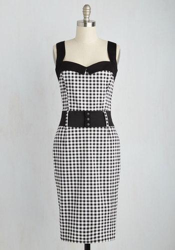 Cool Vibes Dress in Black Gingham $79.99 AT vintagedancer.com