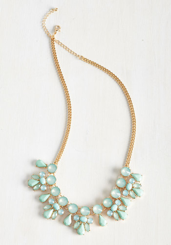 Glimmer is Coming Necklace in Aqua