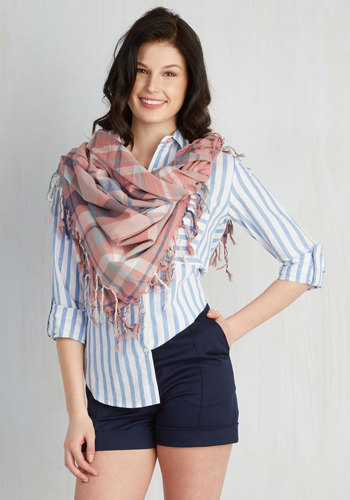 Freestyle Wrap Scarf in Dusty Rose
