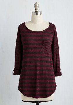 Valued Downtime Top in Burgundy