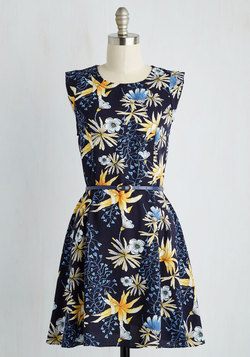 Twilight on the Terrace Dress in Tropical