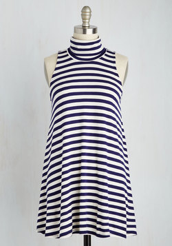 Ease to Meet You Tunic in Navy Stripes