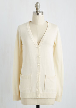 Have a Good Knit Cardigan in Ivory