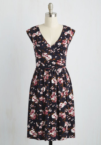 Breezier Said Than Done Dress in Navy