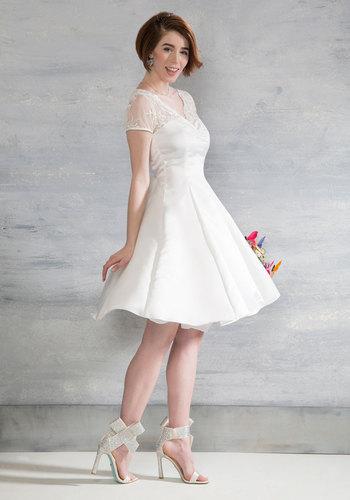 Horse-Drawn Marriage Wedding Dress in White