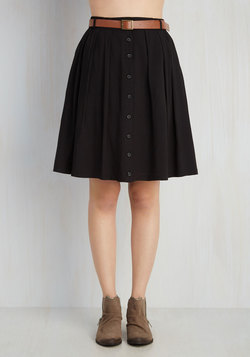 Nutmeg Latte Skirt in Licorice