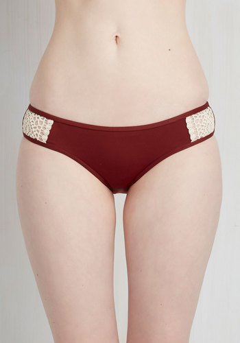 Afternoon Float Swimsuit Bottom - Red, Tan / Cream, Beach/Resort, Boho, Festival, Red