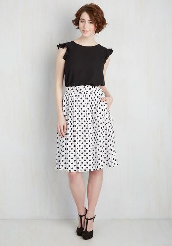 Brio as You Are Skirt in White $54.99 AT vintagedancer.com