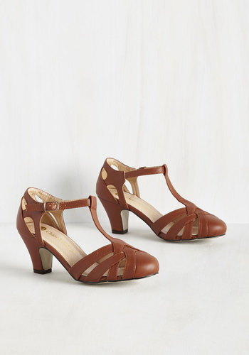 Swing You Off Your Feet Heel in Cognac $59.99 AT vintagedancer.com