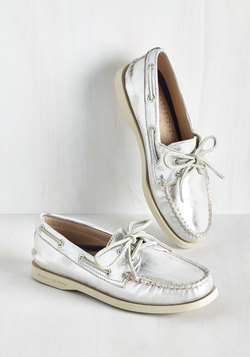 Dock Is Chic Loafer in Silver