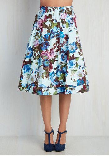 Greenhouse Grandeur Skirt in Sky